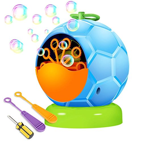 UTTORA Automatic Bubble Machine Toy for Kids,Durable Bubble Blower More Than 500 Bubbles per Minute for Party and Gift 4 AA Battery Operated (not ()