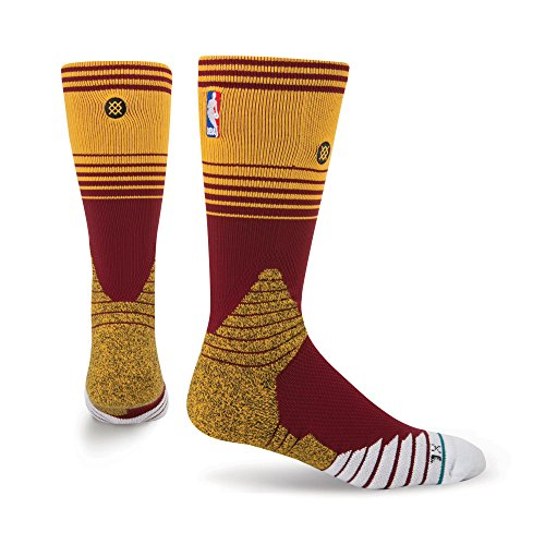 Stance Cavs Core Crew Basketball Socks   Large  9 12