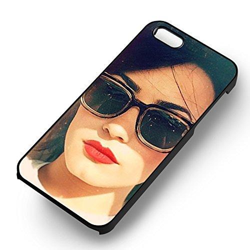 Sunglass Demi Lovato pour Coque Iphone 6 et Coque Iphone 6s Case (Noir Boîtier en plastique dur) K4A9VM