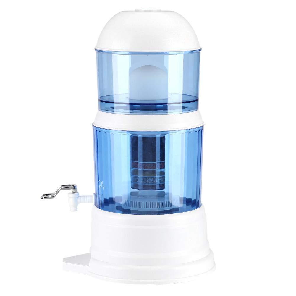 Zerone Caraffa Filtrante per Acqua, Filtro con Rubinetto Distributore d'Acqua Purificatore Sistema Filtro di Fcquaultra Adsorptive con Materiale Sistema Purificatore Acqua Alcalina capacità 16 L