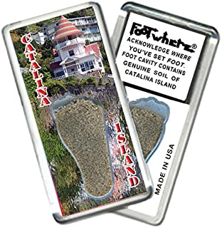 product image for Catalina Island FootWhere Souvenir Fridge Magnet. Made in USA (CI202 - Cottage)