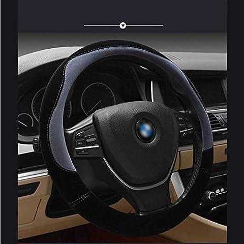 Steering Wheel Cover Made of Short Plush, Warmer Hands In Winter, Anti-slip, Odorless, 1.5lb, Fits 15