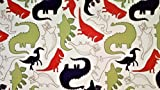 Dino Delight 100% Cotton (FLAT SHEET ONLY) Size TWIN Boys Girls Kids Bedding