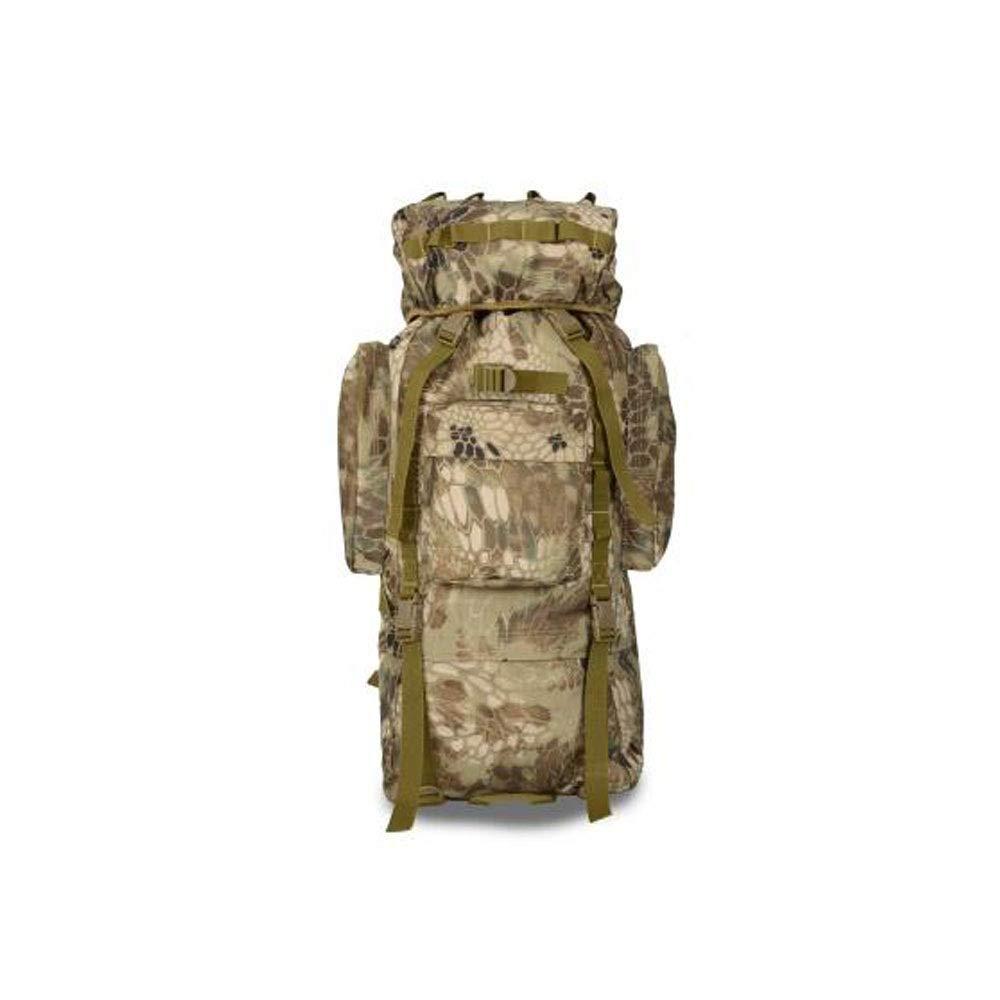 ミリタリー大容量屋外ポータブルバックパック、ミリタリー愛好家のバックパック、登山旅行収納バッグ83 L迷彩 B07RZS3J5P CamouflageB