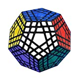 I-xun® Perfect Magic Cube Smooth Dodecahedron Cube Megaminx Cube Black (5x5)