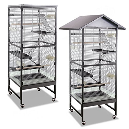 Montana Cages | Voliere, Zimmervoliere, Käfig Villa Casa 60 für Nager - Antik/Platinum