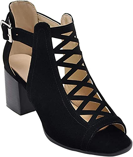 Huatime Chaussures Femme Sandales Talons Femme Chaussures