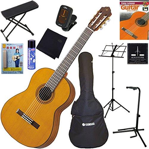 YAMAHA クラシックギター 初心者 入門 トップ単板(杉)モデル 完璧11点セット CG162C   B00AOJBB96