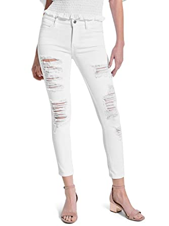 4b3ca7523080 GUESS Women's Sexy Curve Distressed Skinny Jeans at Amazon Women's ...