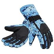 Winter Sports Thermo Insulated Snowboard / Ski Gloves w/ Hidden Zip Pocket