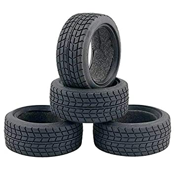 FidgetKute 26mm Rubber Tire Set 1//10 On-road Rc Car For Traxxas 4tec Hpi Rs4 Sprint show One