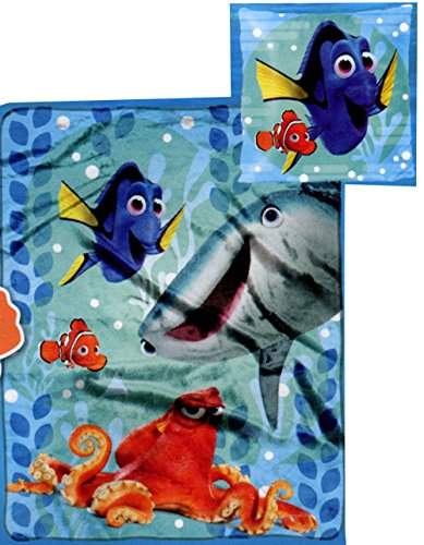 Disney Finding Dory Micro Raschel Throw Blanket and Pillow Set
