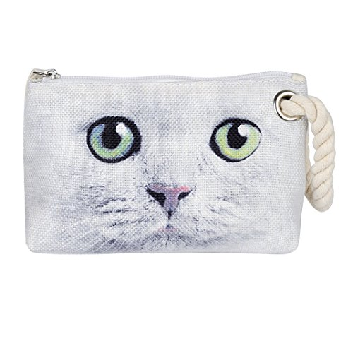 MINICAT Amimal Canvas Series Cute Small Makeup Bag With Zip