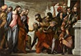 The Perfect Effect Canvas Of Oil Painting 'Paolo Caliari,Christ And The Centurion,ca.1575' ,size: 30x44 Inch / 76x111 Cm ,this Amazing Art Decorative Canvas Prints Is Fit For Laundry Room Decoration And Home Decoration And Gifts