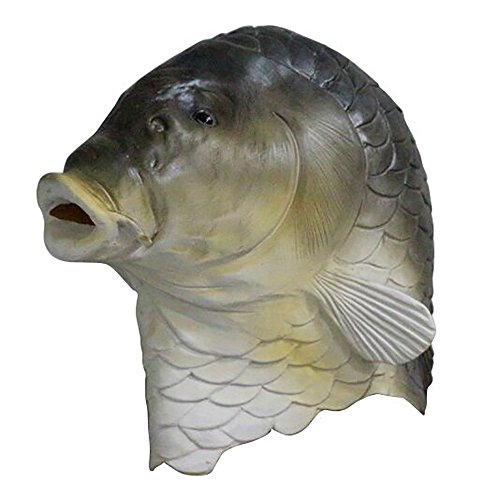 Halloween Full Head Latex Animal Masks Party Costume Fancy Dress (Fish -