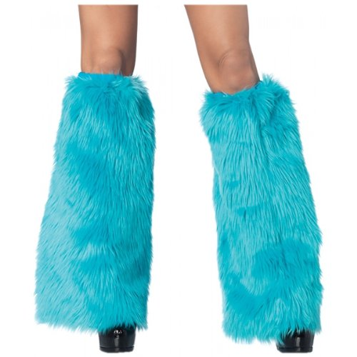 Monster Leg - Leg Avenue Women's Furry Leg Warmers, Turquoise, One Size