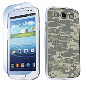 Samsung Galaxy S3 S-III Hard Plastic Cover Case + Screen Protector - Acu Camo By SkinGuardz