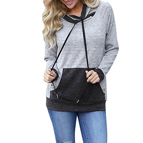 Winter Autumn Zipper Sport Women Hoodies Sweatshirts (Grey) - 9