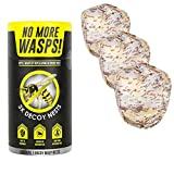 Luigi's The World's Best Wasp Deterrent - Repel Wasps with a Fake Nest (3 Pack of Decoy Wasp Nests)