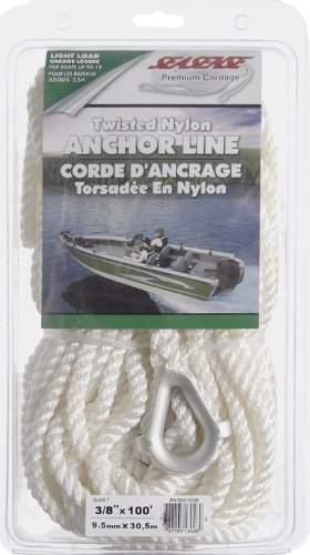 (SeaSense Three-Strand Twisted 100% Nylon Anchor Line, 3/8-Inch X)