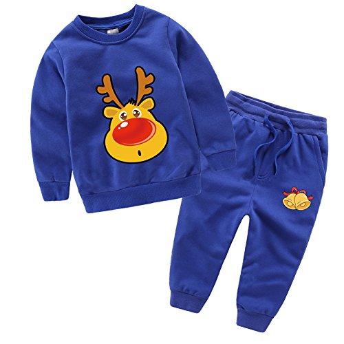 Baby Boys Girl's 2PCS Sweatshirt Clothing Set Print T-shirts Tracksuit+Pants Outfits Sets (110cm/4-5 Y, (Grils Clothes)