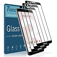 TOCOL's Lifetime Warranty Premium [Full Cover]Tempered Glass Screen Protector offers functionality, feel, and clarity. Made from scratch resistant, shatter proof, 9H tempered glass protecting your screen from scratches, scrapes, bumps, and dr...