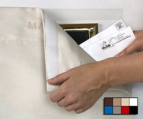 Bag | SNAIL SAKK: Mail Catcher For Mail Slots No tools//screws necessary reduces drafts Door Space efficient and garage doors CREAM | Basket and more Letter Cage For home office
