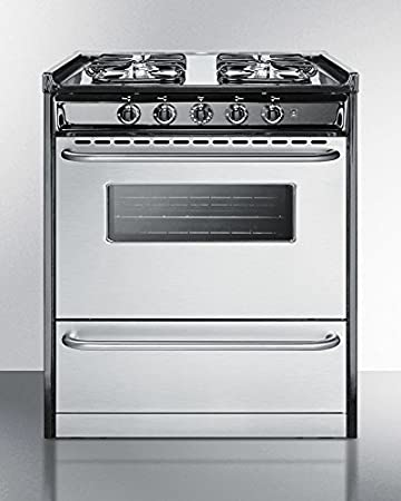 summit series 30u0026quot slidein gas range with 4 sealed burners 37 - Slide In Gas Range