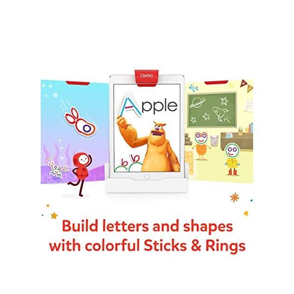 Osmo 902-00017 - Bastoni e anelli con ABC e giochi magici Squiggle (2019), giocattolo educativo, multicolore 3 spesavip
