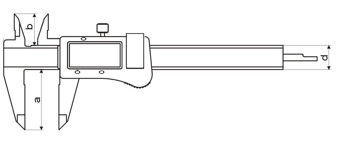 Pied /à coulisse num/érique 150/mm DIN 862/ /absolument Syst/ème de mesure