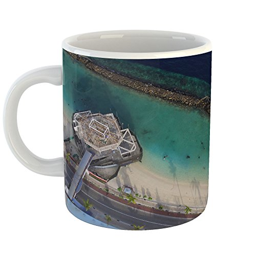 Westlake Art - Aerial View - 11oz Coffee Cup Mug - Modern Pi
