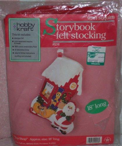 (Storybook Felt Stocking Kit Santa and Toyland)