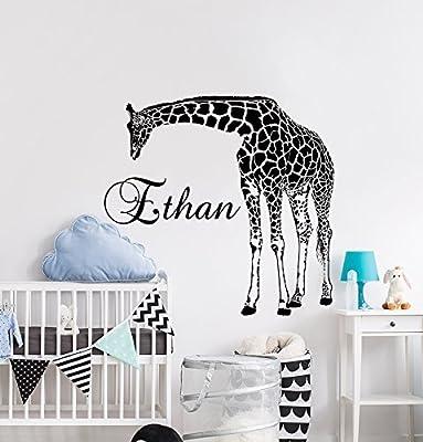 Amazoncom Elma332tuttle Name Wild Animals Giraffe Decor