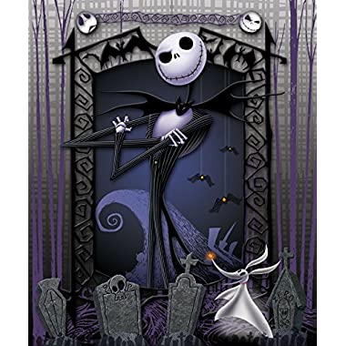 The Nightmare Before Christmas Blanket Throw ~ Jack Skellington & Zero