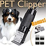 Zero Pet Grooming Clippers Low Noise Rechargeable Cordless Dog Trimmer Electric Hair Trimming Clippers Set with 4 Comb Guides