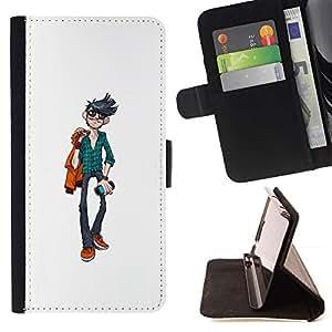 Momo Phone Case / Flip Funda de Cuero Case Cover - Individuo fresco;;;;;;;; - LG G4