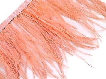 N/ähen Basteln Kolight 5er Pack nat/ürliche gef/ärbte Strau/ßenfedern Kost/üme Fransen f/ür DIY Kleid 10-15 cm Dekoration Orange