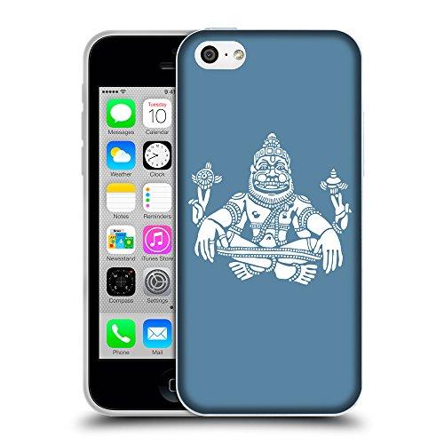 GoGoMobile Coque de Protection TPU Silicone Case pour // Q09550600 Hindou 9 Aviation Bleu // Apple iPhone 5C
