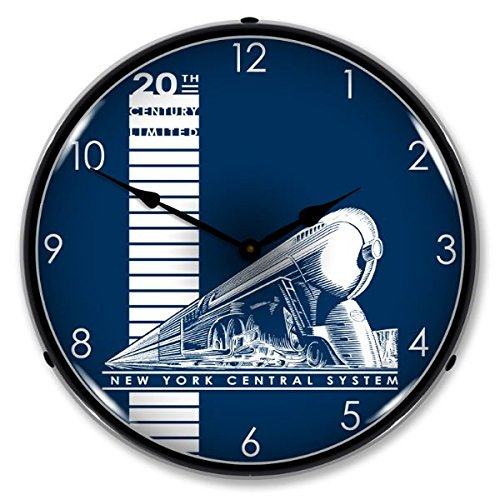 - 20th Century Limited Railroad Lighted Wall Clock