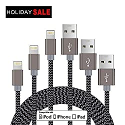 Charging Cable For Iphone 66siphone 66 Plusiphone 55s,3-pack 5ft1.5m Lightning Cable For Iphone Ios Devices -Gray