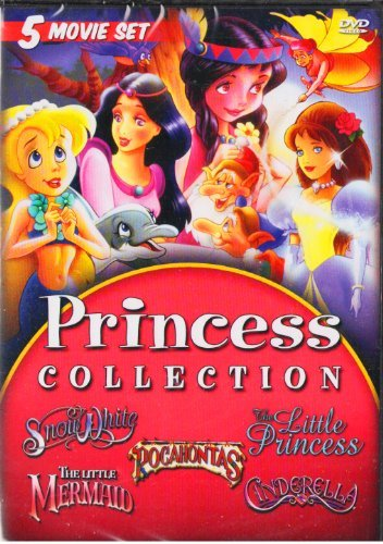 The Princess Collection : The Little Mermaid , Pocahontas , Cinderella , Snow White , The Little Princess : 5 Movie Set (Princess Movie Collection)