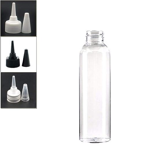 Lessonmart Botella de plástico vacía 120 ml, Botella ...