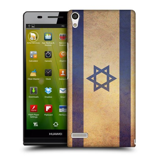 Head Case Designs Israel Israeli Vintage Flags Protective Snap-on Hard Back Case Cover for Huawei Ascend P6