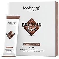 foodspring Protein Riegel Chocolate Brownie, 12er Pack Eiweißriegel ohne Zuckerzusatz, Hergestellt in zertifizierten Produktionen in Deutschland