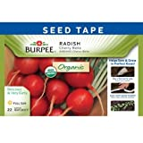 Burpee 60346 Certified Organic Seed Tape Radish Cherry Belle 22.5 Ft 300 Seeds