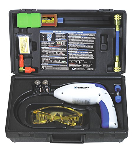 Mastercool (55310) Blue/Gray Electronic Leak Detector with UV Light and Dye Kit (Mastercool Detector Leak Electronic)