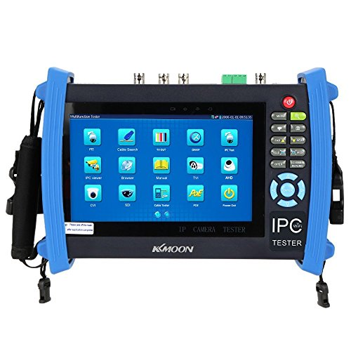 KKMOON 7inch CCTV Onvif IP Camera Tester Touch Screen Monitor SDI/AHD/TVI/CVI HDMI 1080P/PTZ/POE/WIFI/FTP Server/IP Scan/Port Flashing/DHCP IPC-8600ADHS