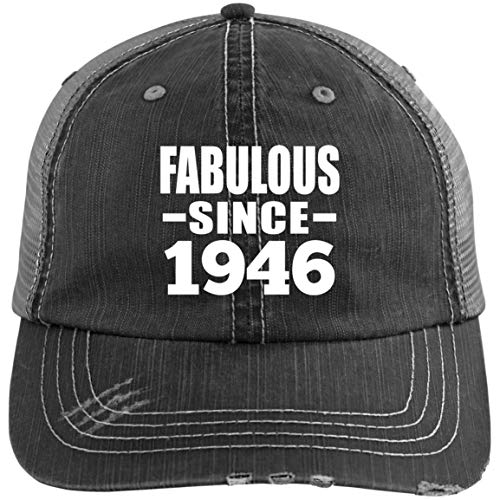 Fabulous Since 1946 - Distressed Trucker Cap Black/Grey / One Size