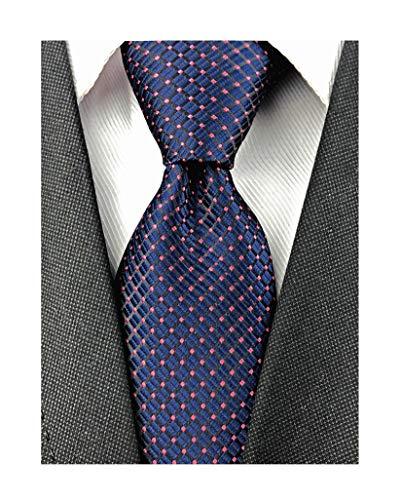 Discount Silk Ties - Mens Navy Wine Red Silk Cravat Ties Woven Dance Formal Slim Skinny Neckties Gift Ideal