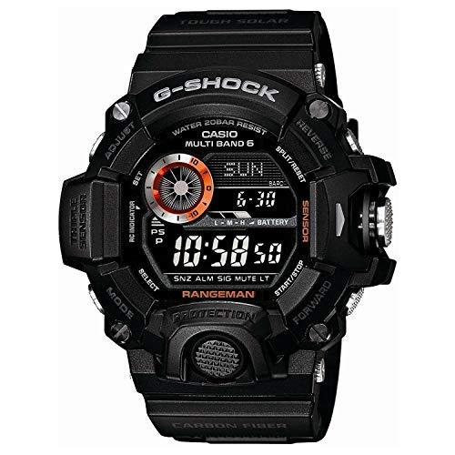 Casio Men's GW-9400BJ-1JF G-Shock Master of G Rangeman Digital Solar Black Carbon Fiber Insert Watch ()